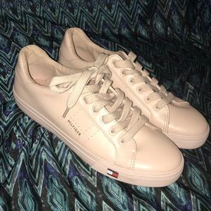 Tommy Hilfiger pink sneakers